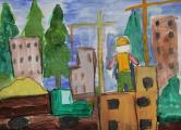 """Вишняков Алеша, 6 лет, """"Наш будущий город"""""""