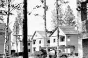 1990 Саянск, коттеджное строительство.