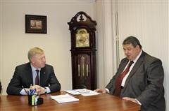 Рабочая встреча мэра с учредителем Благотворительного фонда «Сила Сибири» прошла в администрации Саянска